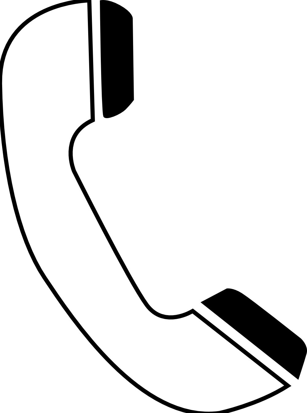 Telefono Telephone Phone Icon Black White Line Art ...