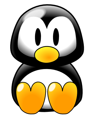 Free Clipart Image Cute Baby Tux Penguin