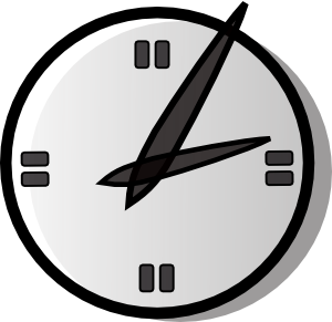 Analogue Clock clip art - vector clip art online, royalty free ...