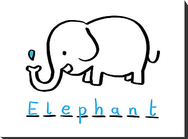 Easy Elephant Drawing - ClipArt Best