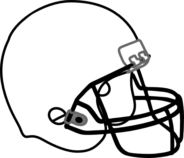 Football Helmet Outline Football Helmet White Black