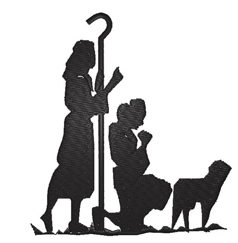Manger Silhouette Png Nativity silhouette from