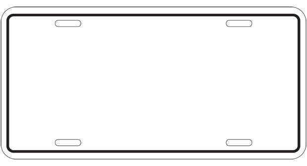 printable license plate page coloring pages