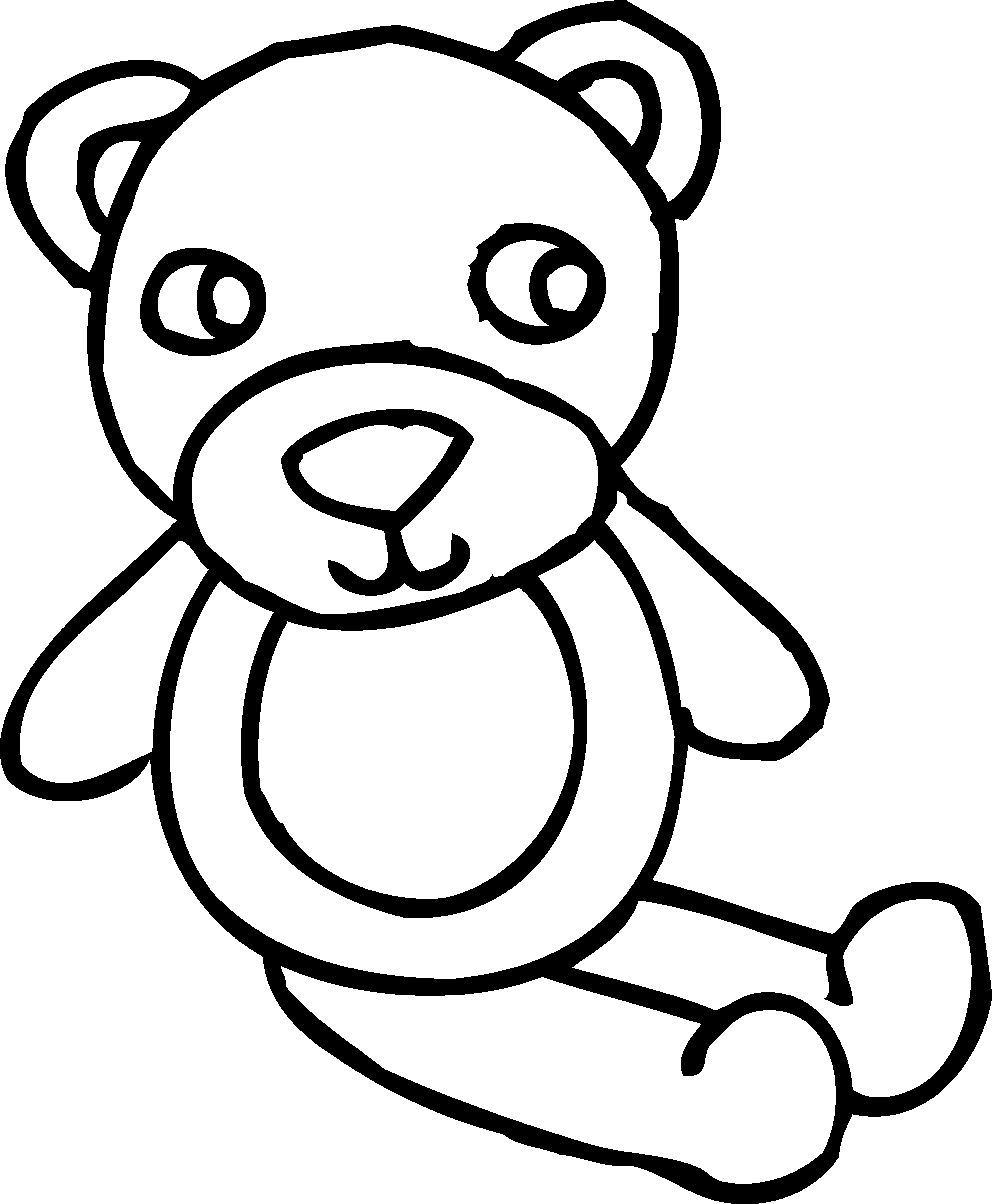 Teddy Bear Outline | Free Download Clip Art | Free Clip ...