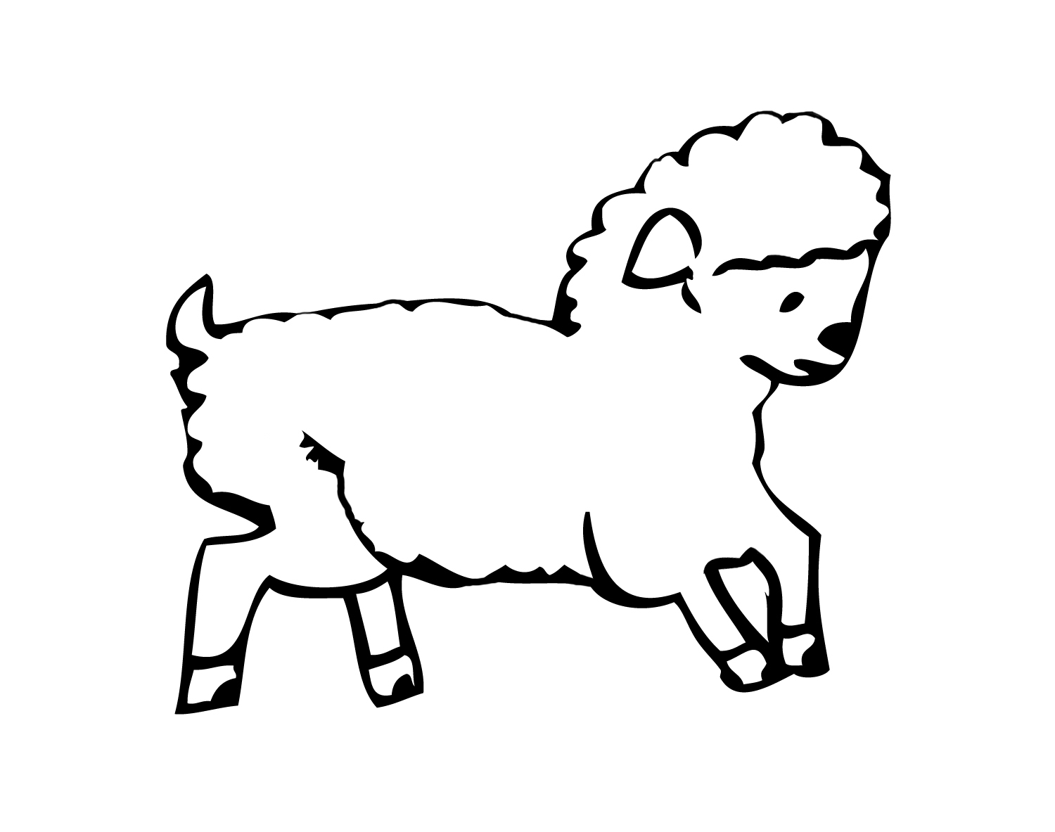 Sheep Templates Printable - ClipArt Best