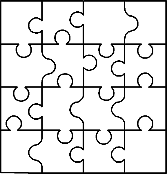 Autism puzzle piece cut out clipart best for Puzzle cut out template