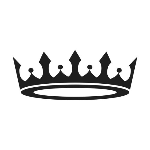Prince crown black and white