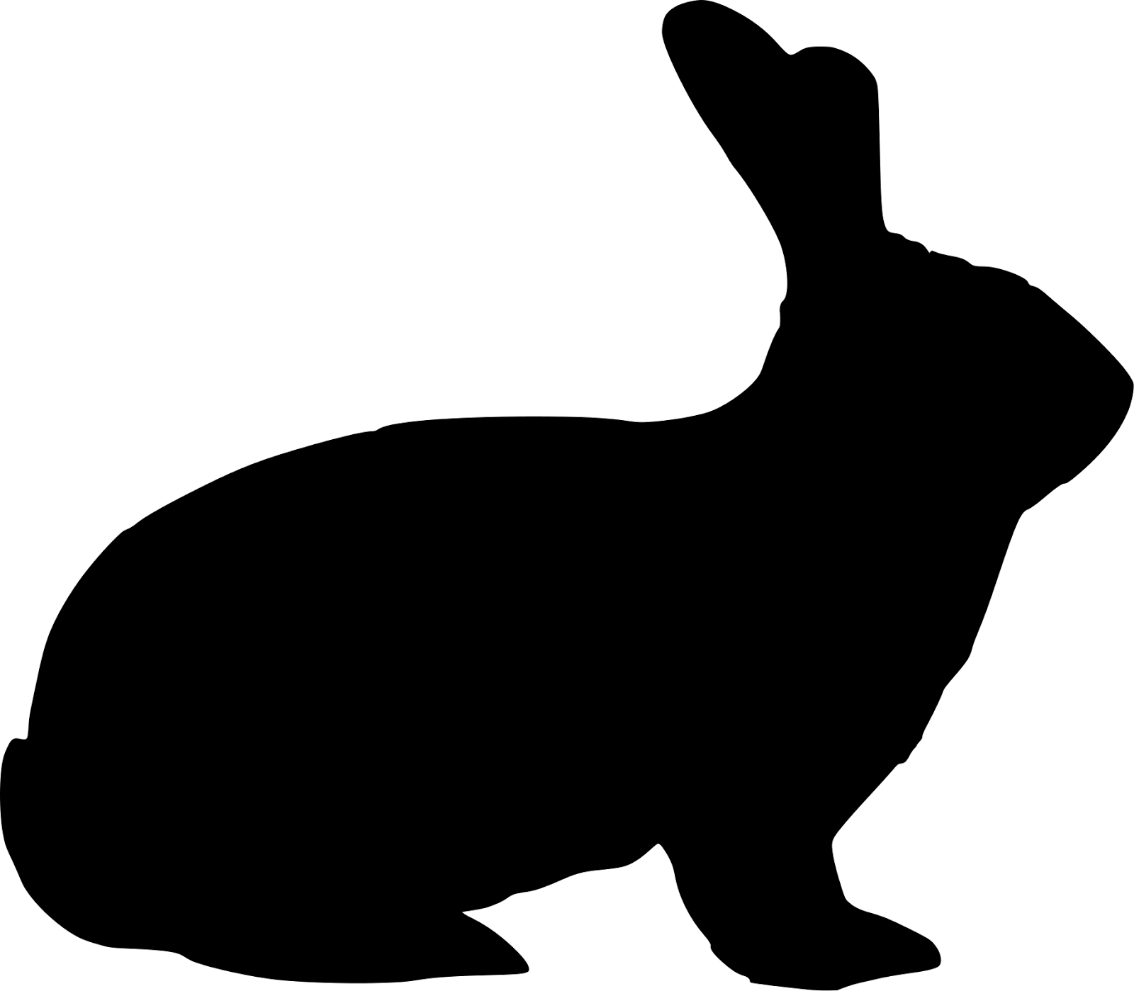 clipart image bunny silhouette - photo #16