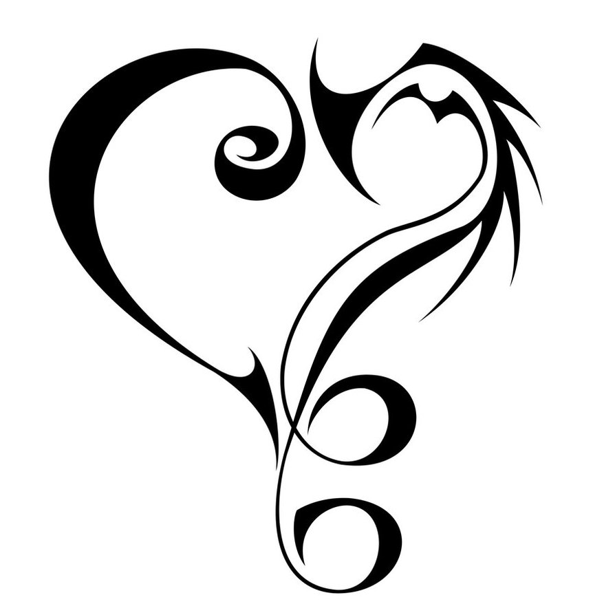 cool music heart tattoos drawings clipart best. Black Bedroom Furniture Sets. Home Design Ideas