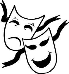 Drama Mask Black And White - ClipArt Best
