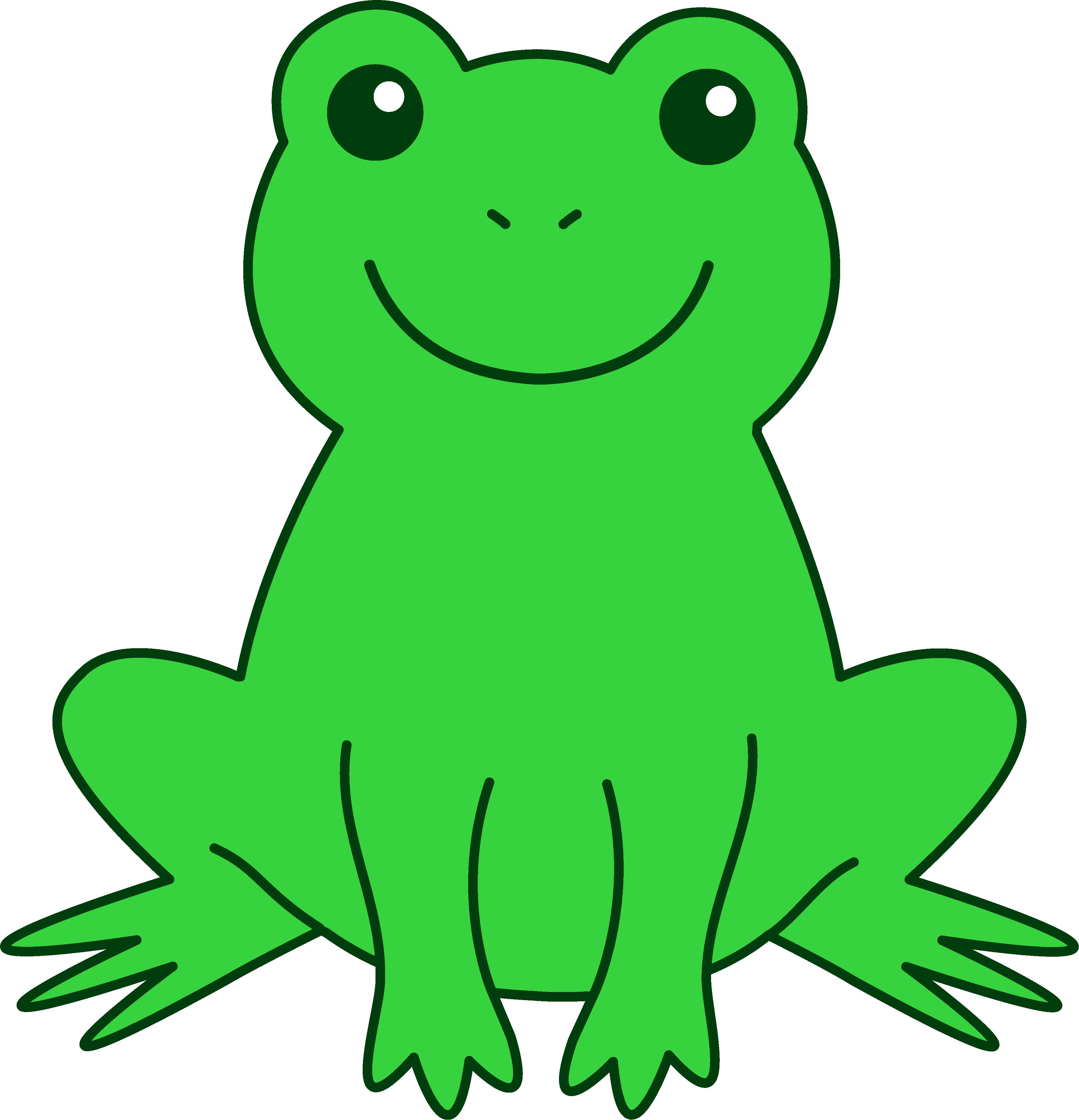 cute frog drawings   clipart best