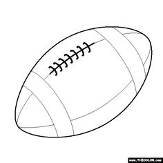 Free printable football stencils clipart best for Football cutout template