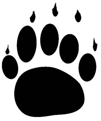 Grizzly Claw Tearing Volleyball  Vector Clipart Grizzly