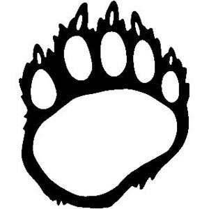 bear paw tracks clipart best baby footprint clipart disney black and white baby footprints clip art