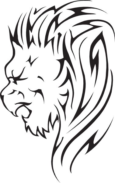 Lion Face Art - ClipArt Best
