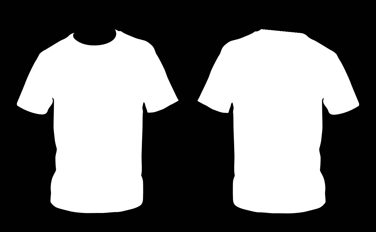 Blank t shirt template front and back clipart best for Back t shirt template