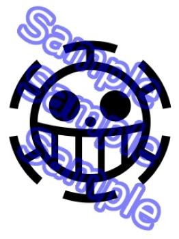 Trafalgar law symbol clipart best for One piece law tattoos