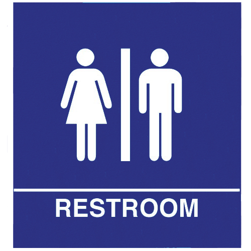 Restroom Clipart: Unisex Bathroom Sign Printable