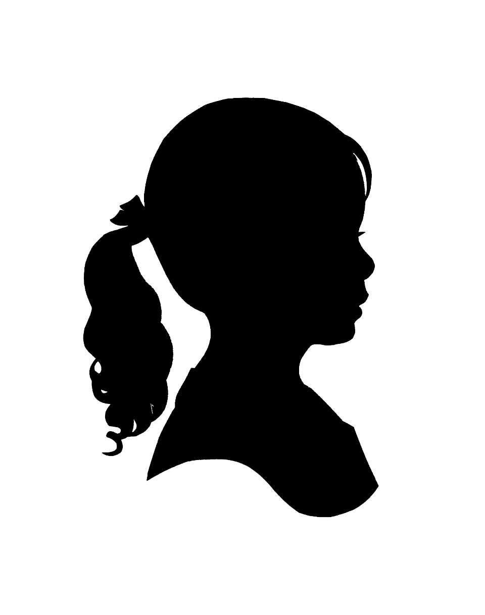 Boy Face Silhouette Clipart