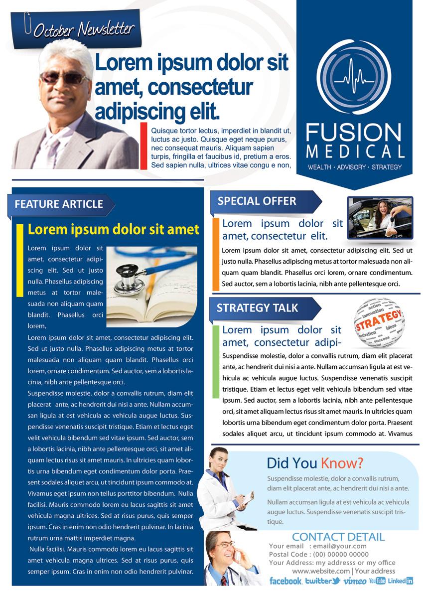 Newsletter design clipart best for Modern newsletter design