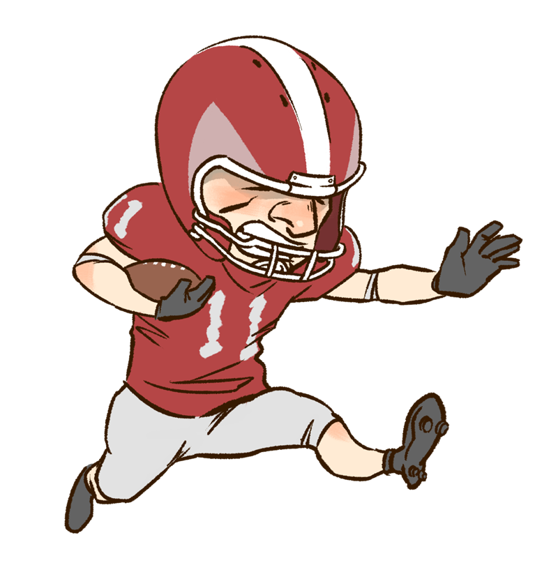 cartoon football player clipart clipart best free football clipart images black and white free football clipart to print