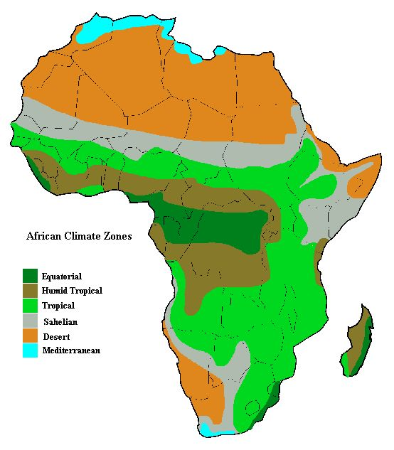 Climate Map Of Africa For Kids - ClipArt Best