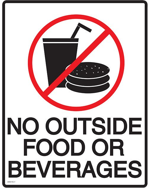 No Outside Food Or Drinks Sign Clipart Best