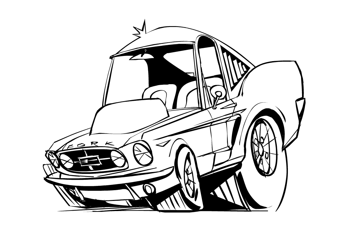 easy pencil drawings of cars - photo #2