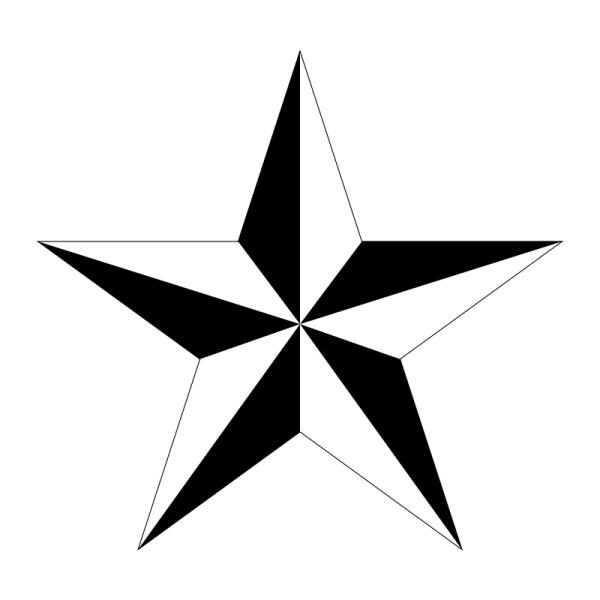 free star tattoo stencils clipart best