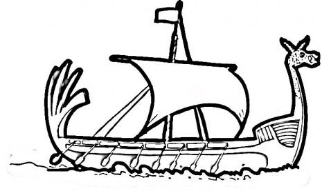 Viking Ship Coloring Page Super