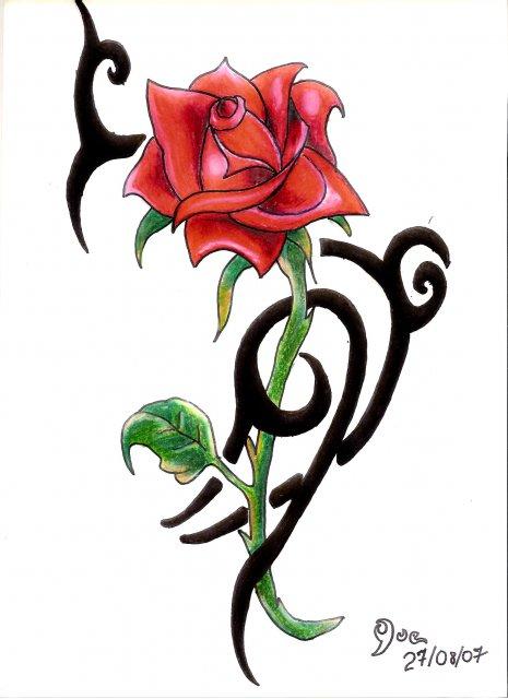 Rosas Tribales - ClipArt Best
