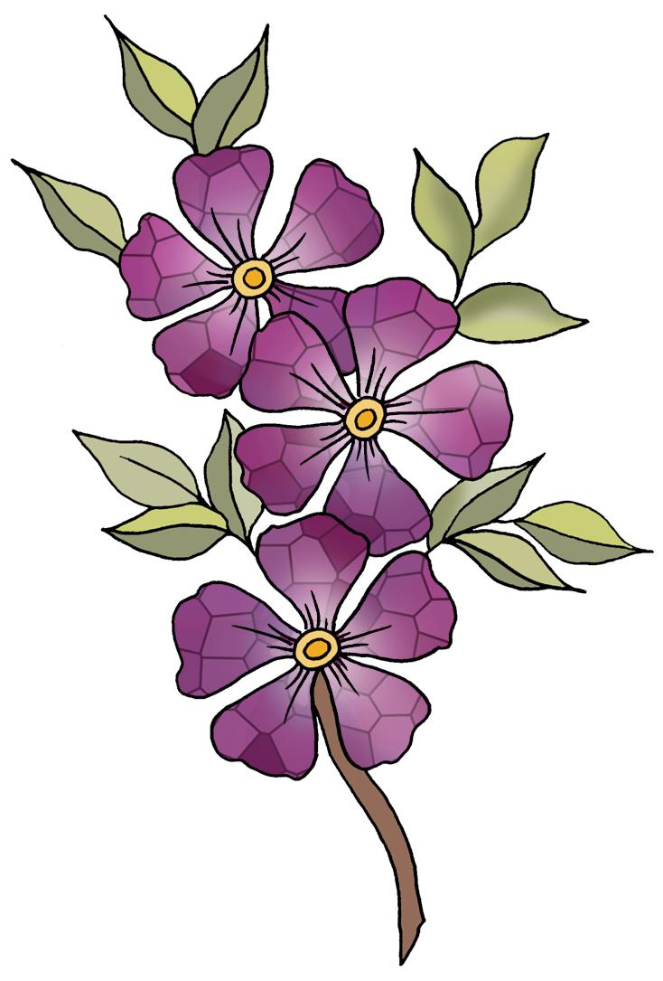 Violet Flower Clip Art - ClipArt Best