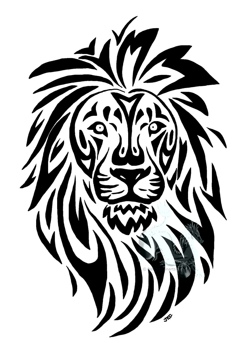 Line Art Animals Tattoo : Tribal animal art clipart best