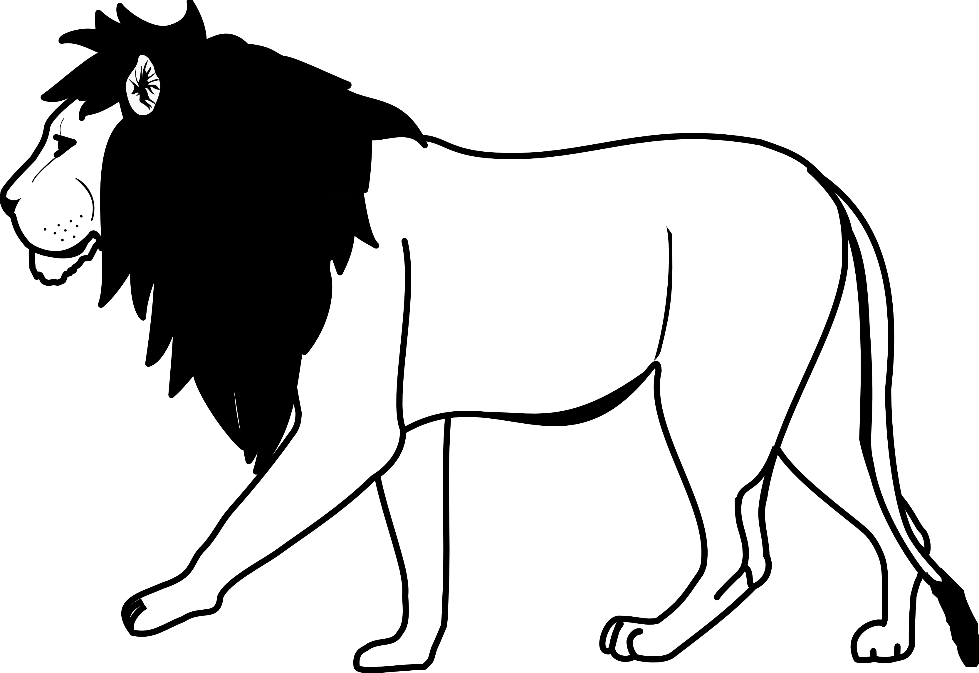 Line Drawing Animation : Lion line drawing clipart best