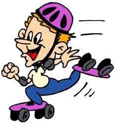 Roller Skating Clip Art - ClipArt Best