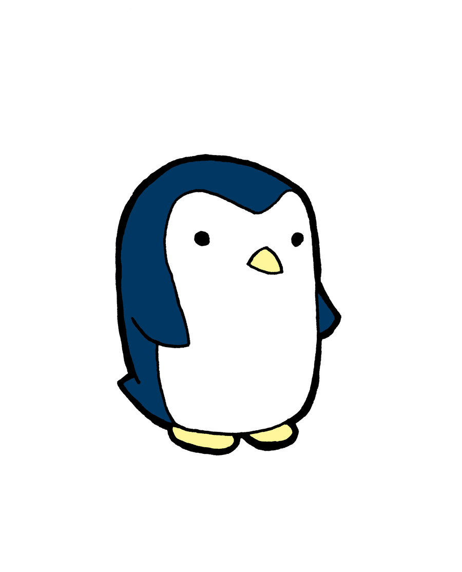 cute penguin drawings clipart best