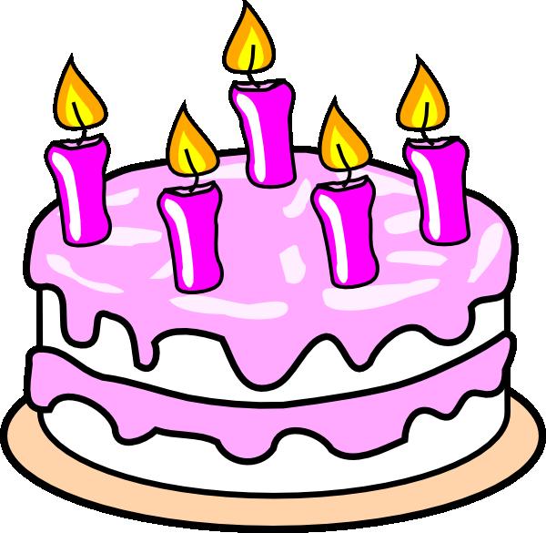 Girl S Birthday Cake clip art - vector clip art online, royalty ...