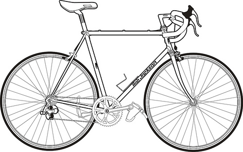 Line Drawing Bike : Drawing bicycle clipart best