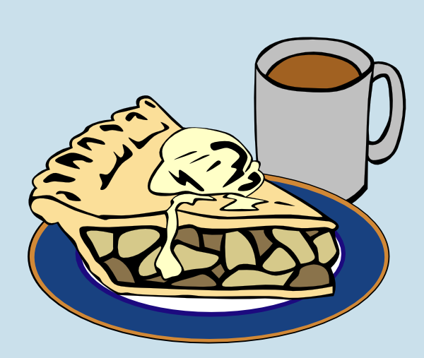 Apple Pie And Coffee clip art Free Vector