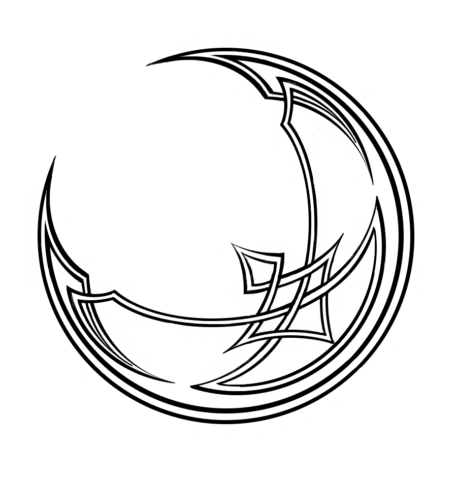 Line drawing moon : Crescent moon tattoo clipart best