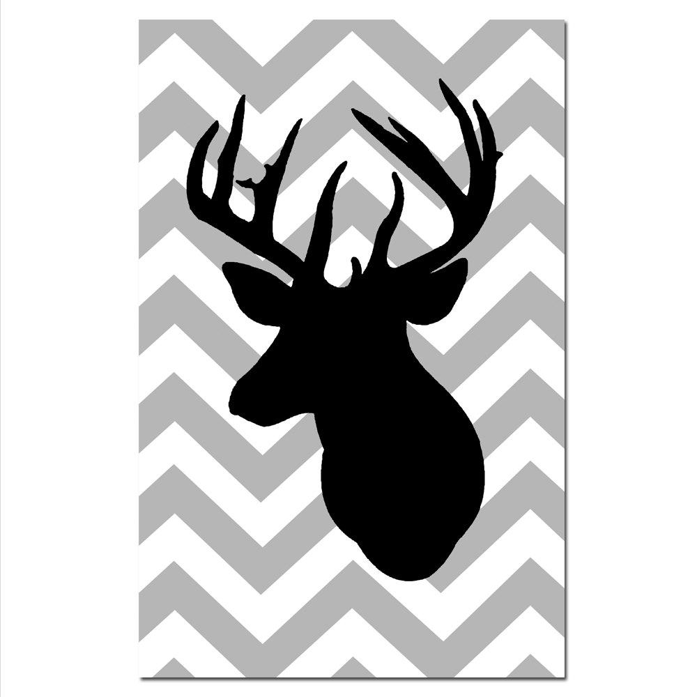 SALE Large 11 x 17 Chevron Deer Silhouette Print by TessylaPrints
