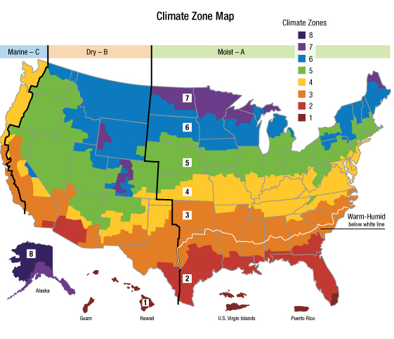Climate Zone Map Of The United States Clipart Best