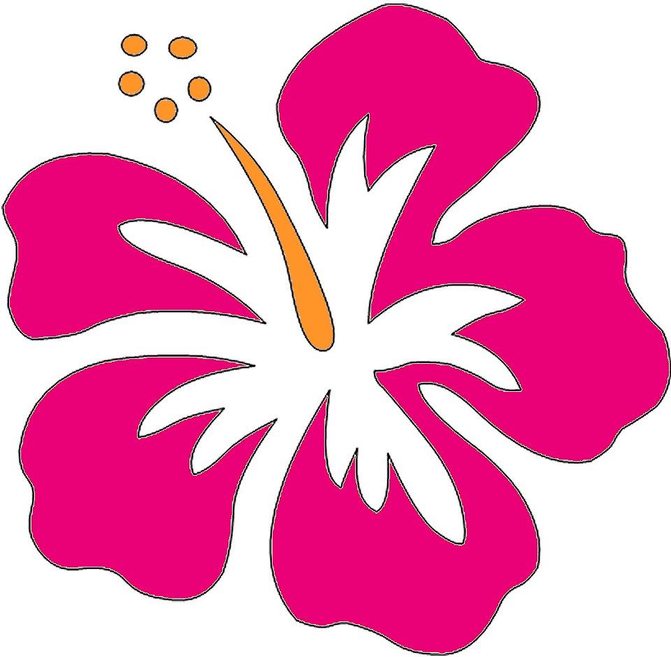 Printable Hawaiian Flowers Clipart Best