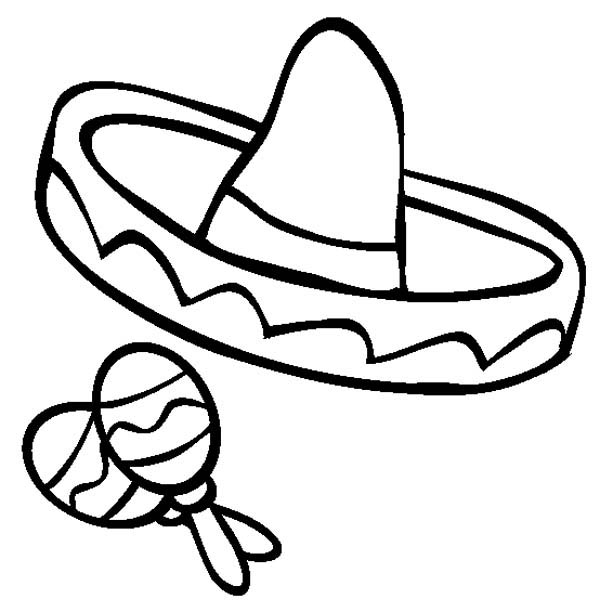 Sombrero Hat Coloring Page - ClipArt Best