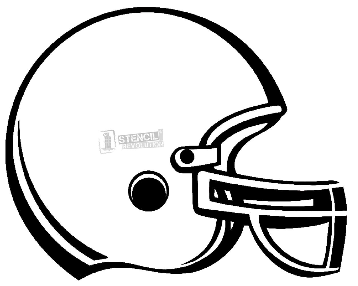 Football Helmet Stencil Www Imgkid Com The Image Kid