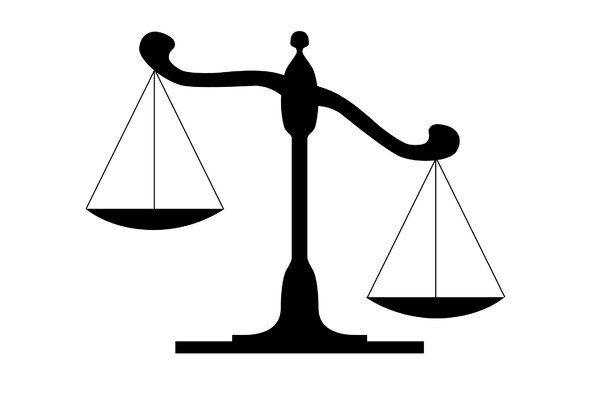 Balancing scales clipart