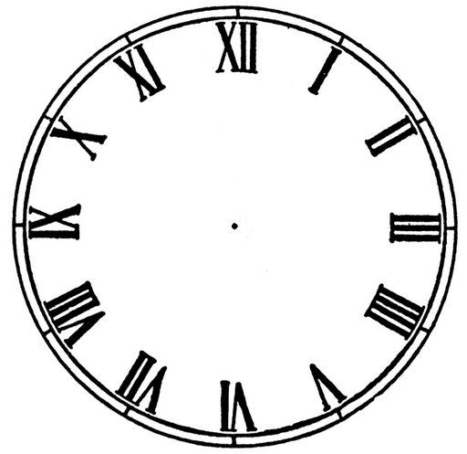 Blank Clock Face Template - ClipArt Best