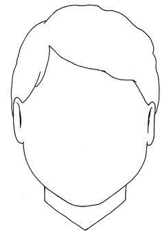 boy face coloring page - blank boy face template clipart best