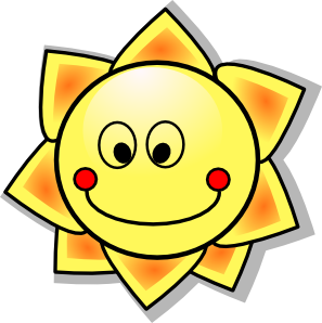 Smiling Cartoon Sun clip art - vector clip art online, royalty ...