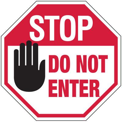 Stop Do Not Enter Sign - ClipArt Best